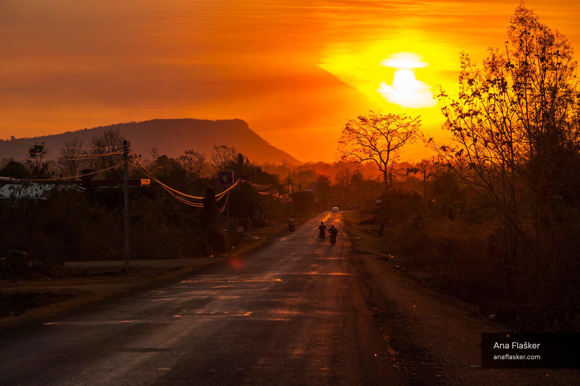 Motorbiking in Lao