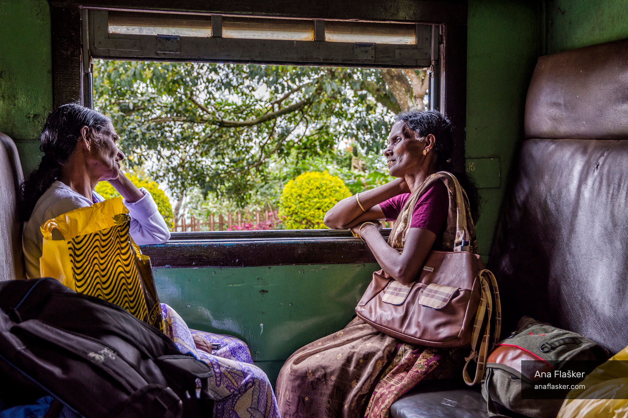 On Sri Lankan Train