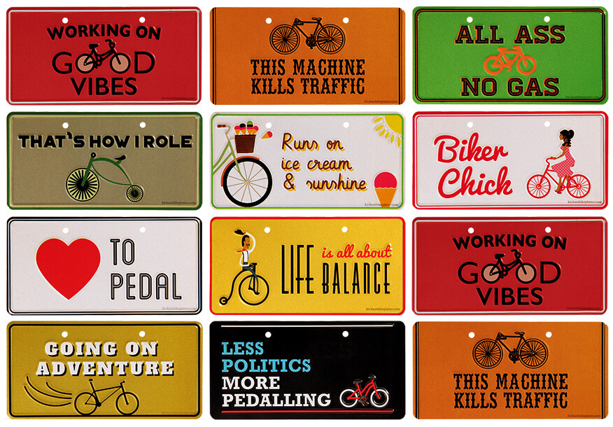 Kick Ass Bike Plates – Stylish bike plates