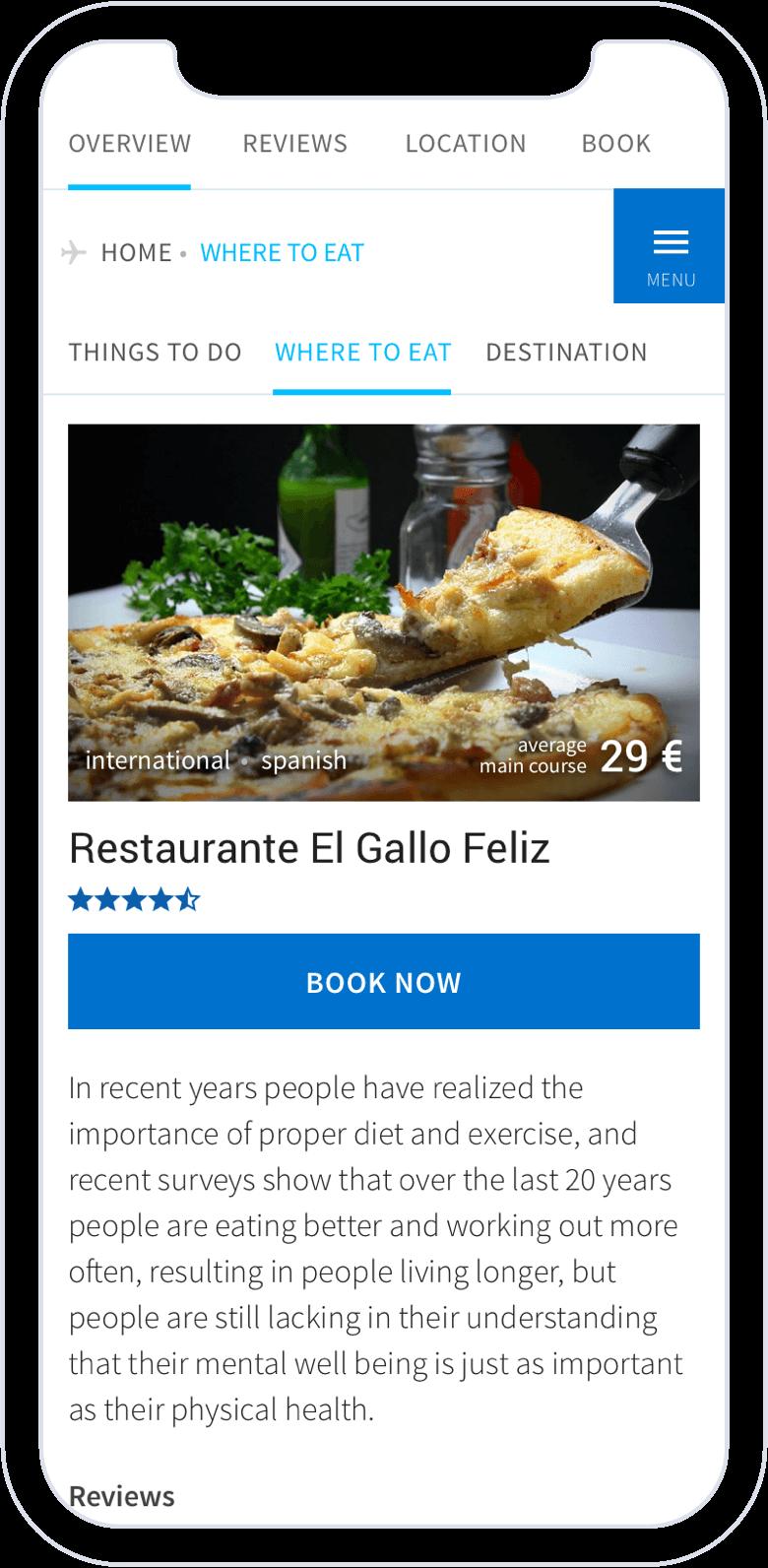 AE inflight restaurants